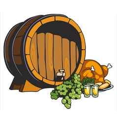 fruit wine barrel vector image