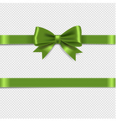 Green bow isolated transparent background vector
