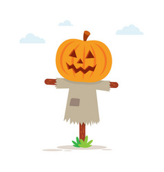 halloween scary scarecrow vector image