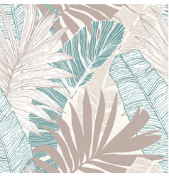 Hand drawn abstract tropical summer background vector