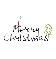 Hand written inscription Merry Christmas vector