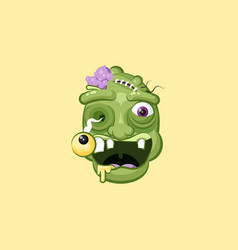 head facial expression hungry zombie with vector image