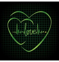 Hearts Black vector image