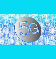 high speed 5g network digital technology vector image