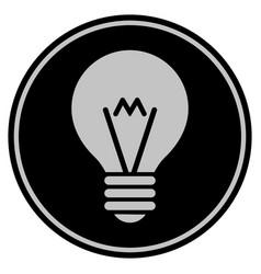 Hint bulb black coin vector