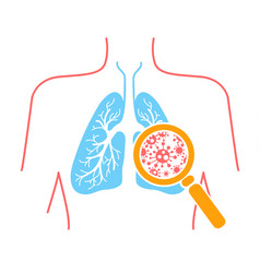 Icon lung pneumonia vector