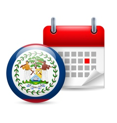 Icon of National Day in Belize vector