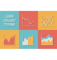 Icons in flat style Graph types - Set of vector image