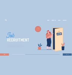 Job seeking website landing page hiring manager vector