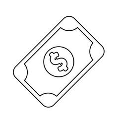 line bill cash money to buy vector image