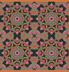 Mandala zentangl seamless ornament relax oriental vector