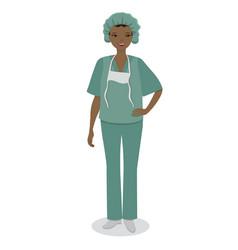 medical nurse isolated on white background image vector image