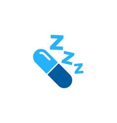 medicine sleep logo icon design vector image