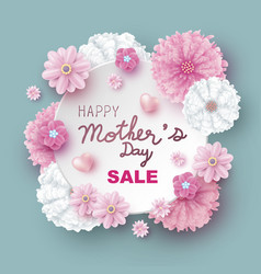 mothers day sale design flowers vector image
