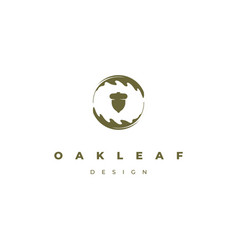 Oak leaf logo design template vector