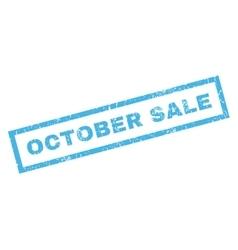 October Sale Rubber Stamp vector