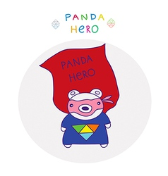 Panda superman vector