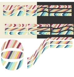 Paper colored mosaic vector image