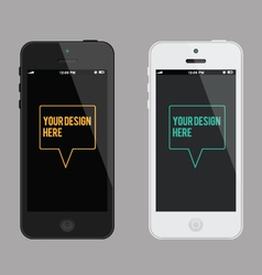 phone mock-up template vector image