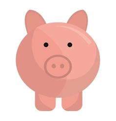 Piggy money saving icon flat design vector image