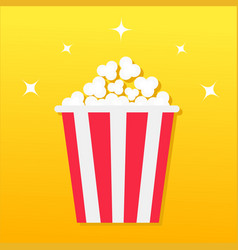 popcorn box movie cinema icon in flat design vector image