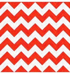 Red and White Zigzag Pattern vector image