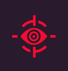 Retina scan icon biometric recognition vector