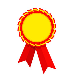 ribbon award red golden vector image