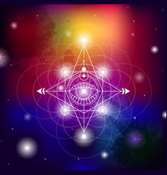 Sacred geometry set with vector