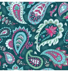 Seamless Abstract Floral Pattern with Paisley vector