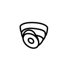 security camera dome line icon in flat style for vector image