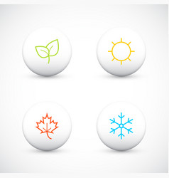set of season icons vector image