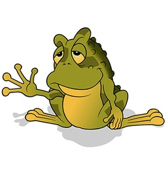Sleepy Green Frog vector image