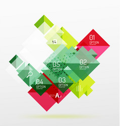 square abstract background vector image