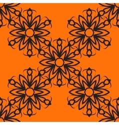 Stylized flower tile Seamless Ornamental stylized vector image