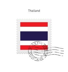 Thailand Flag Postage Stamp vector
