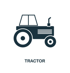 tractor icon in flat style icon design vector image