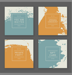 trendy paint splash card templates vector image