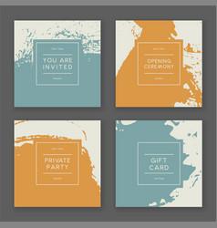 trendy paint splash card templates vector image