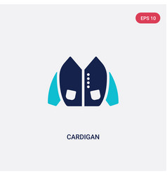 Two color cardigan icon from clothes concept vector