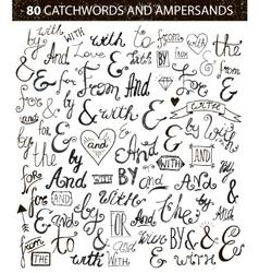 vintage style hand lettered ampersands vector image