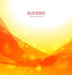 wave bokeh colorful background design vector image