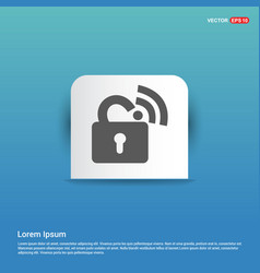 wifi locked signs - blue sticker button vector image