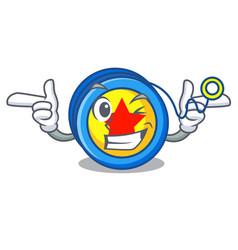 Wink yoyo character cartoon style vector