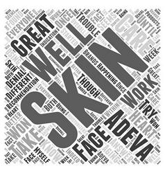 adeva skin care Word Cloud Concept vector image vector image
