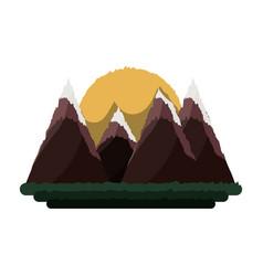 beautiful mountains landscape vector image