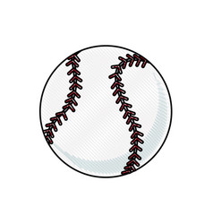 drawing baseball ball sport competition element vector image vector image