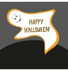 Happy Halloween card Scary ghost poster with vector image vector image