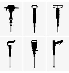 Pneumatic drills vector image vector image
