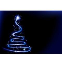 Blue Christmas Spiral vector image